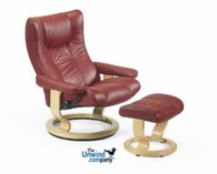 The Stressless Eagle is a traditional-looking Ekornes chair that is as comfortable as it is distinguished.