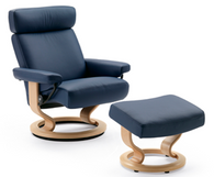 Stressless Taurus Recliner (large) by Ekornes - Great Support and Elegance- Stellar Comfort for Your Back and Body!