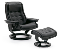 Medium Stressless Royal Recliner- Fantastic Back and Neck Support and Style to Match. Fit for the King or Queen of any Household!