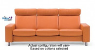 Ekornes Stressless Space Large High-Back - 3 Seat Sofa ships free.