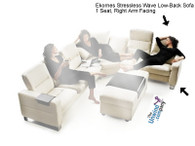 Ekornes Stressless Wave Low-Back Sofa - 1 Seat, Right Arm Facing