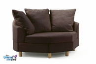 Stressless Wave Sectional Component- Medium Corner- shown with optional side panels attached.