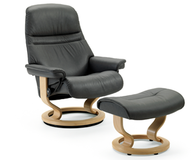 Ekornes Stressless Sunrise Recliner is naturally comfortable to the head, neck and back
