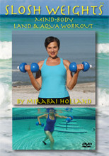 AQUA AND LAND MIND BODY TOTAL WORKOUT WITH WATER-FILLED HAND WEIGHTS UP TO 3lb Each.