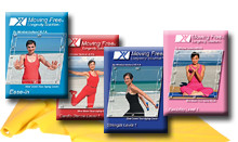 Mirabai Holland Moving Free® Longevity Solution™ Easy Exercise 4 DVDS: Ease-in intro to fitness, easy cardio, easy strength and easy flexibility exercise