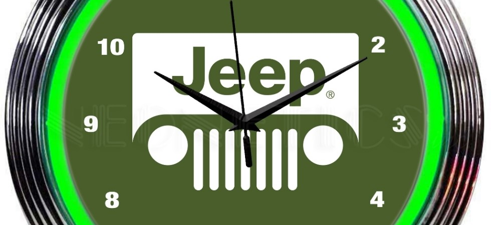 Jeep Grille Neon Clock