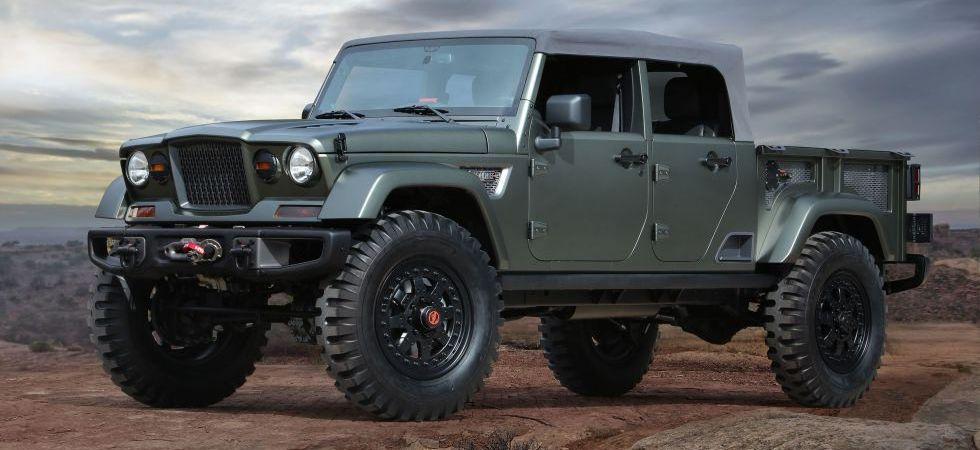 Custom Green Jeep