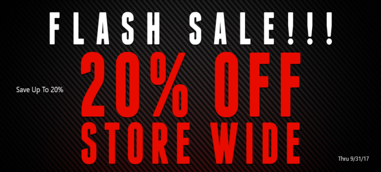 Save Up To 20% Storewide