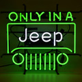 Jeep Green Neon Sign