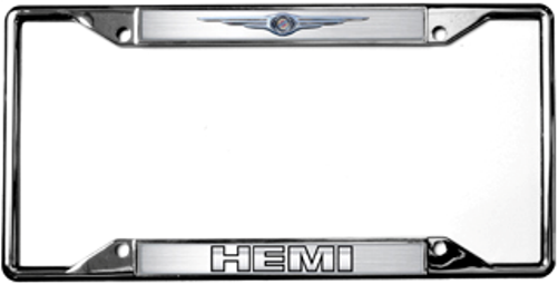 Amazing Chrysler HEMI Chrome Metal License Plate Frame
