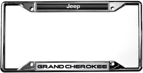 Jeep Grand Cherokee Chrome License Plate Frame | Auto Gear Direct