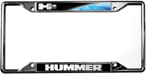 Hummer H2 Chrome License Plate Frame   Auto Gear Direct