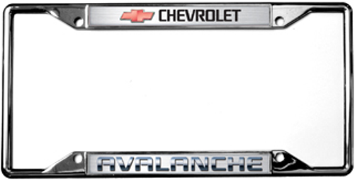 Chevrolet Avalanche License Plate Frame   Auto Gear Direct