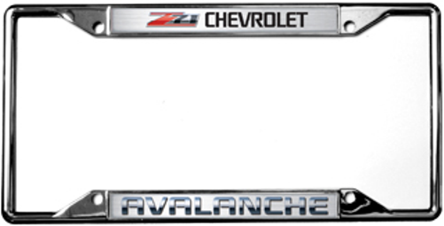 Chevrolet Avalanche Z71 License Plate Frame | Auto Gear Direct