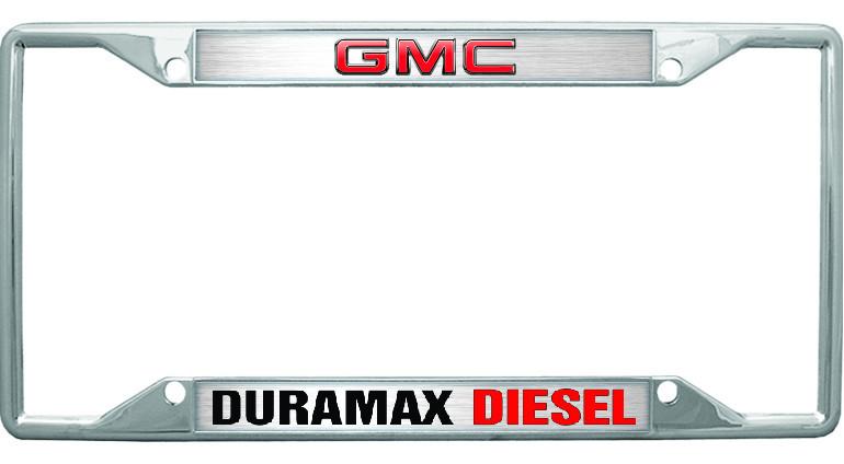 Gmc Duramax Diesel License Plate Frame Auto Gear Direct
