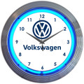 VW Neon Clock
