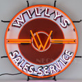 Willys Jeep Neon Sign