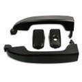 Silverado/Sierra Billet Black Matte Door Handles front