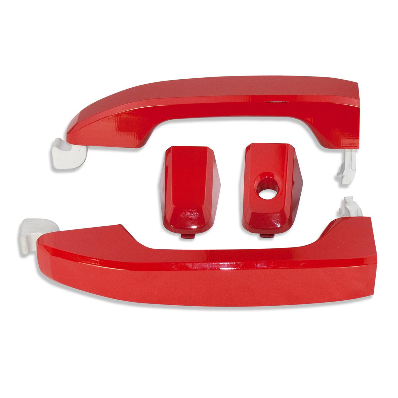 Silveradosierra Billet Door Handles Victory Red Auto Gear Direct