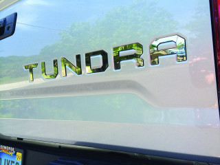 Toyota Tundra Ultra Chrome Tailgate Letters