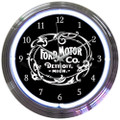 Ford Mo Co Neon Clock