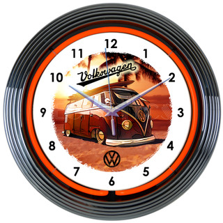 VW Bus Neon Clock