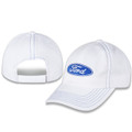 Ford Oval White Hat- front & back