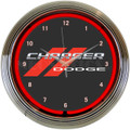 Dodge Charger Neon Clock
