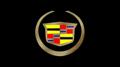 Cadillac Crest w/ Gold Black Acrylic Plate
