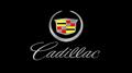 Cadillac Crest w/ Mirror Script Black Acrylic Plate