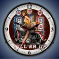 Filler Up Pin Up Girl Clock