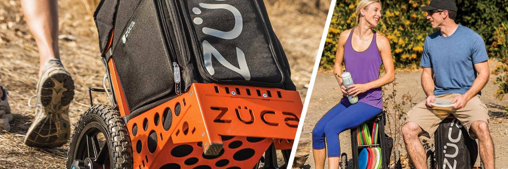 Zuca disc golf cart is back in stock
