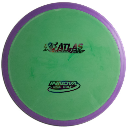 INNOVA XT PRO ATLAS DISC GOLF MID-RANGE OVERMOLD, green/purple