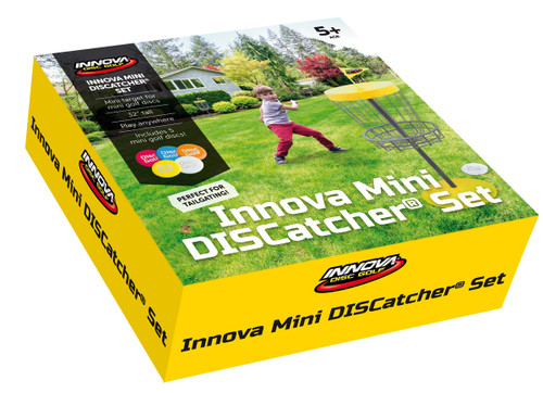 INNOVA MINI DISCATCHER BASKET - DISC GOLF SET WITH SIX MINIS