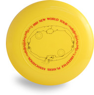 DISCRAFT CUSTOM 1981 NEW WORLD TOUR SKY STYLER YELLOW FREESTYLE FRISBEE