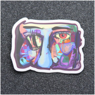 LOST EYES DESIGN ABSTRACT FACE STICKER