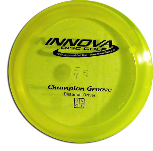 INNOVA CHAMPION GROOVE DISC GOLF DRIVER, YELLOW