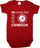 Alabama Crimson Tide On Gameday Baby Onesie