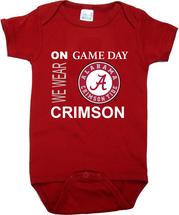 Alabama Crimson Tide On Gameday Baby Onesie