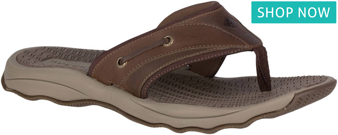 Sperry Men's Outer Banks Flip Flop in Brown