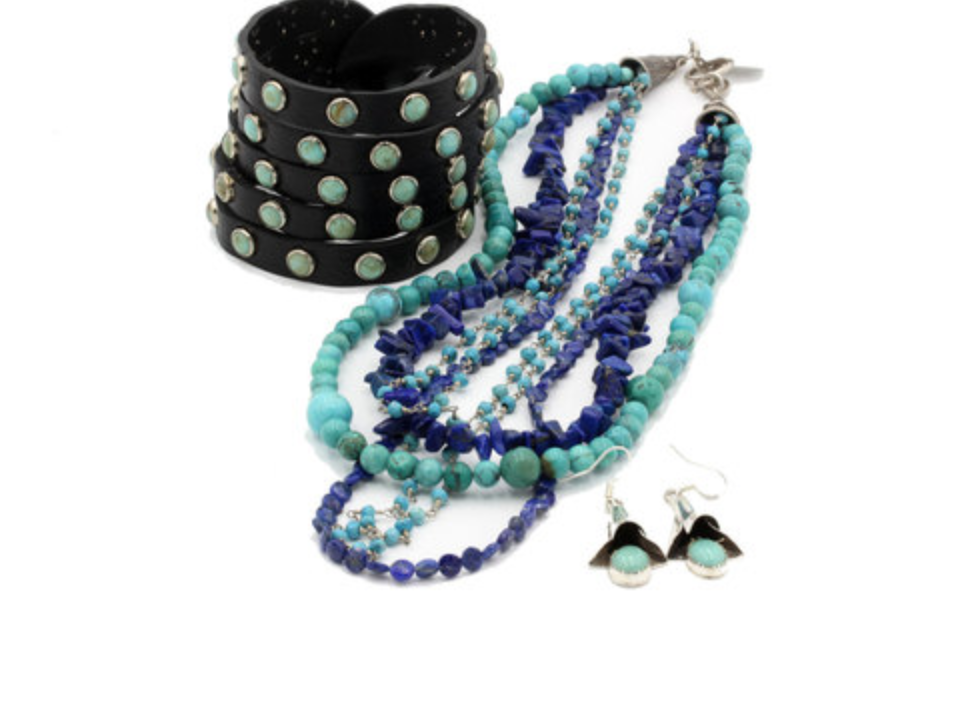 Caracol Winter Rodeo Queen Turquoise Jewelry Set