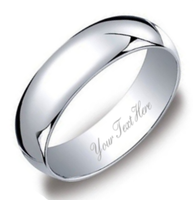 8mm Personalized Sterling Silver Promise Ring