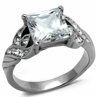 Princess Cut AAA Grade CZ  Personalized Ring