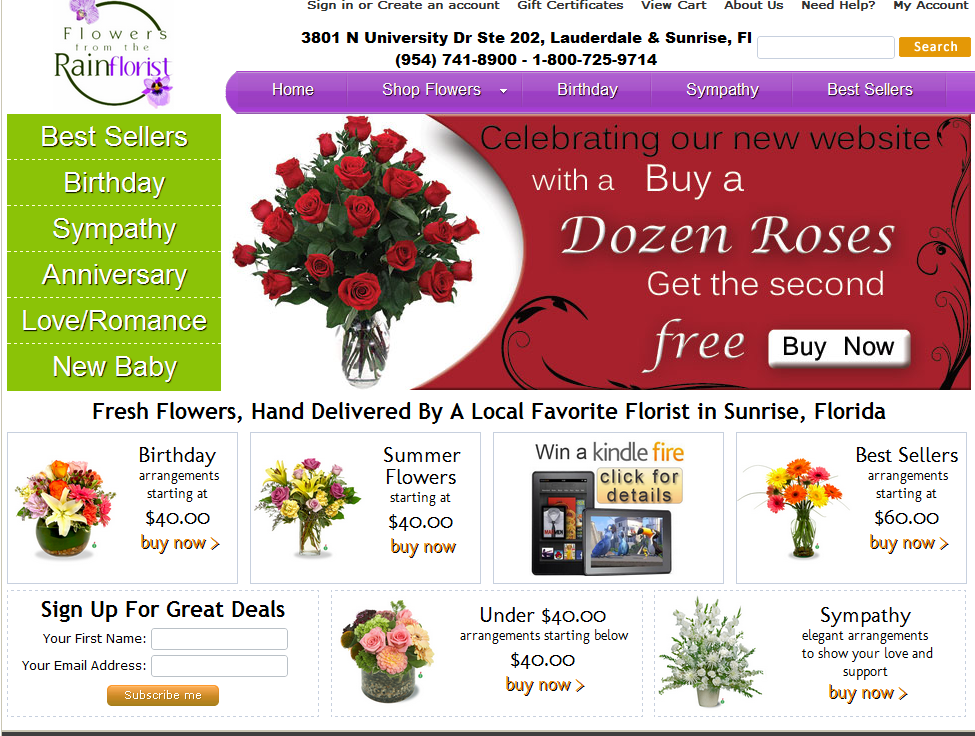 new-flowers-from-the-rainflorist-website - Ft. Lauderdale flower delivery.