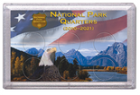 "Frosted 3"" x 5"" Case for National Park Quarters Flag and Eagle (6 Holes)"