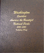 Dansco Album #8146-America The Beautiful National Park Quarters 2010-2015 with Proof Vol.1