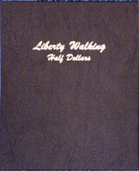 Dansco Album #7160- Liberty Walking Half Dollars 1916 -1947