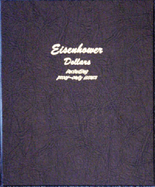 Dansco Album #8176- Eisenhower Dollars 1970-1978 with Proof