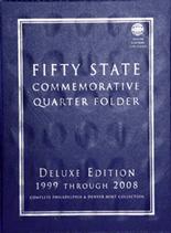 Whitman Folder- Fifty State Commemorative Quarter Folder 1999-2009 P&D-Deluxe Edition