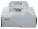 Coin Safe Square Tubes for Dimes